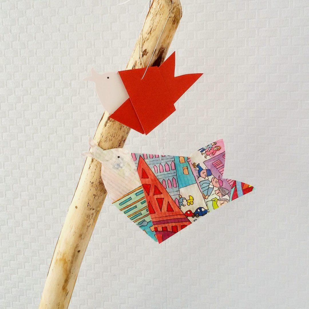 Geknotete Diy Papier Vögel Zum Aufhängen Mammilade