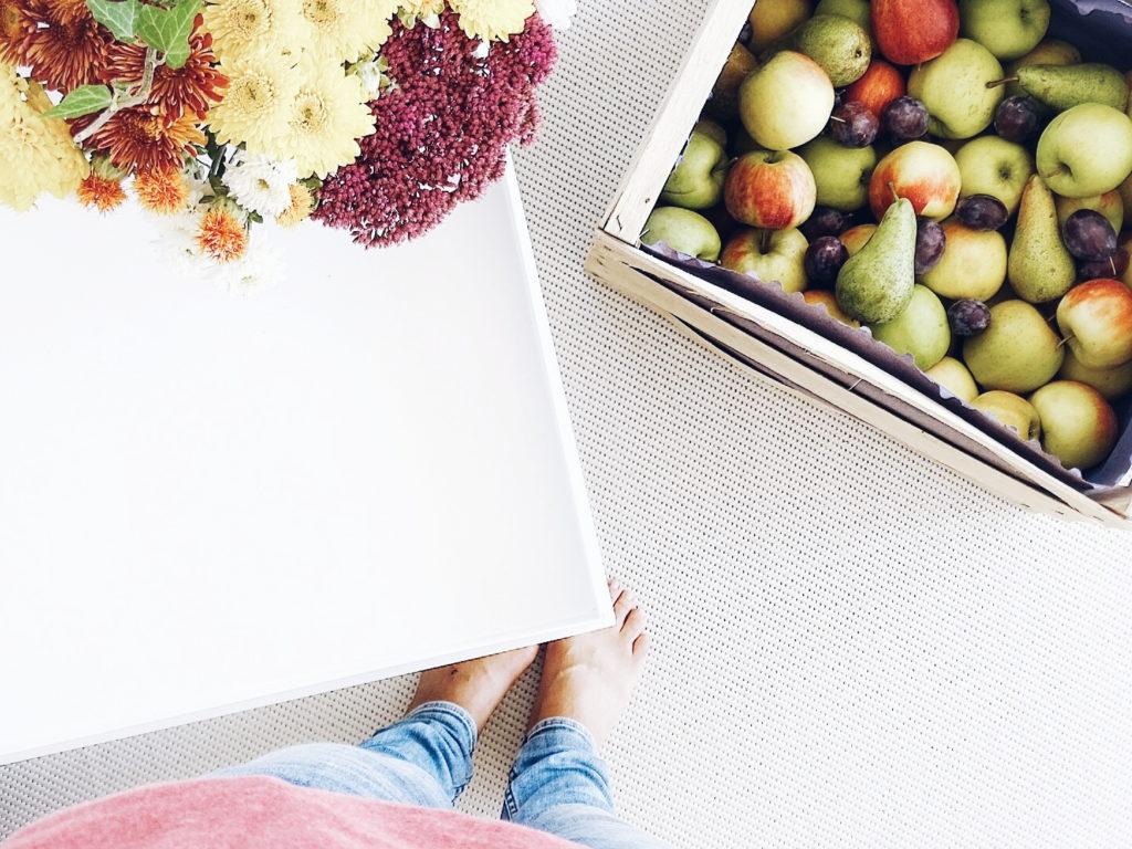 Auf der Mammilade|n-Seite des Lebens | Personal Lifestyle Blog | Einblicke ins Familienleben | 12von12 | Herbst | Herbstblumen | Ernte | Apfelernte | Äpfel | Teppich Esprit