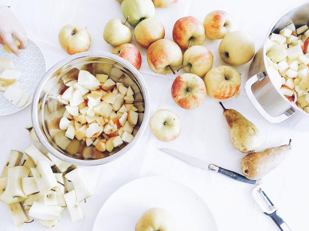 Auf der Mammilade|n-Seite des Lebens - Personal Lifestyle Blog - Herbst - Winter - Rezept - Apfelmuffins - Trifle mit Apfelmuffins, Joghurtcreme, Vanilleeis