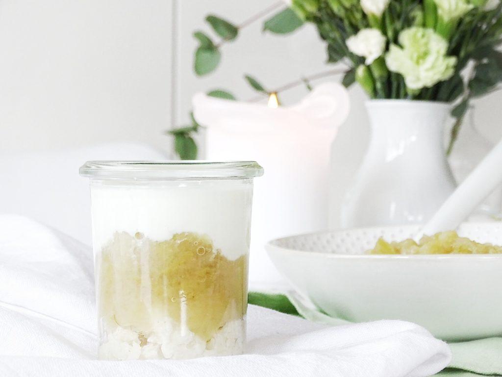 Auf der Mammilade|n-Seite des Lebens - Personal Lifestyle Blog - Herbst - Winter - Rezept - geschichtete Suessspeise mit Joghurtcreme und selbstgemachtem Apfelmus