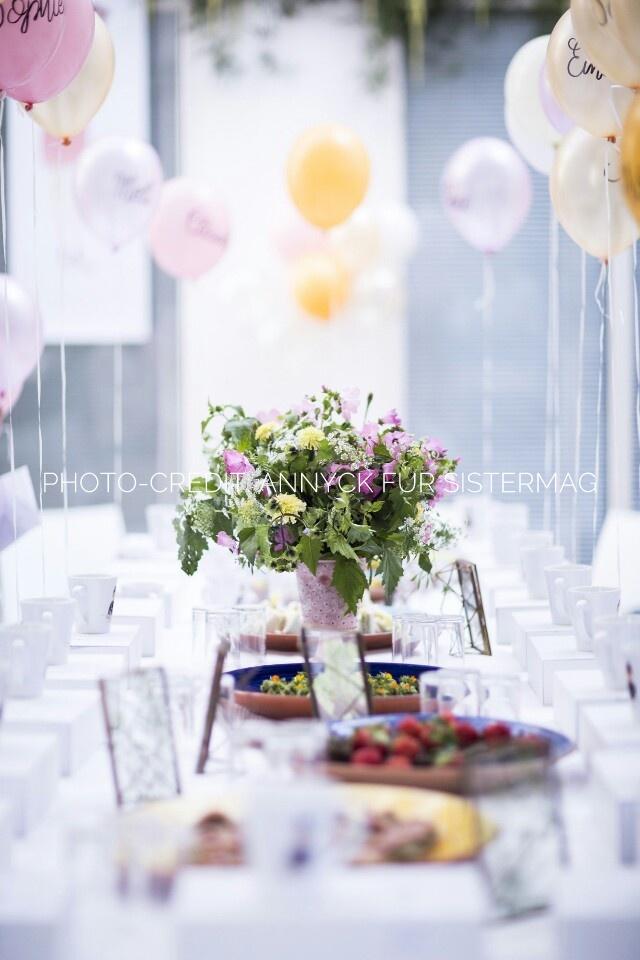 Auf der Mammilade|n-Seite des Lebens | Personal Lifestyle Blog | workshop | sisterMAG loves CEWE | blogger event | candy colors | Ballons | Blumen | Tischdeko
