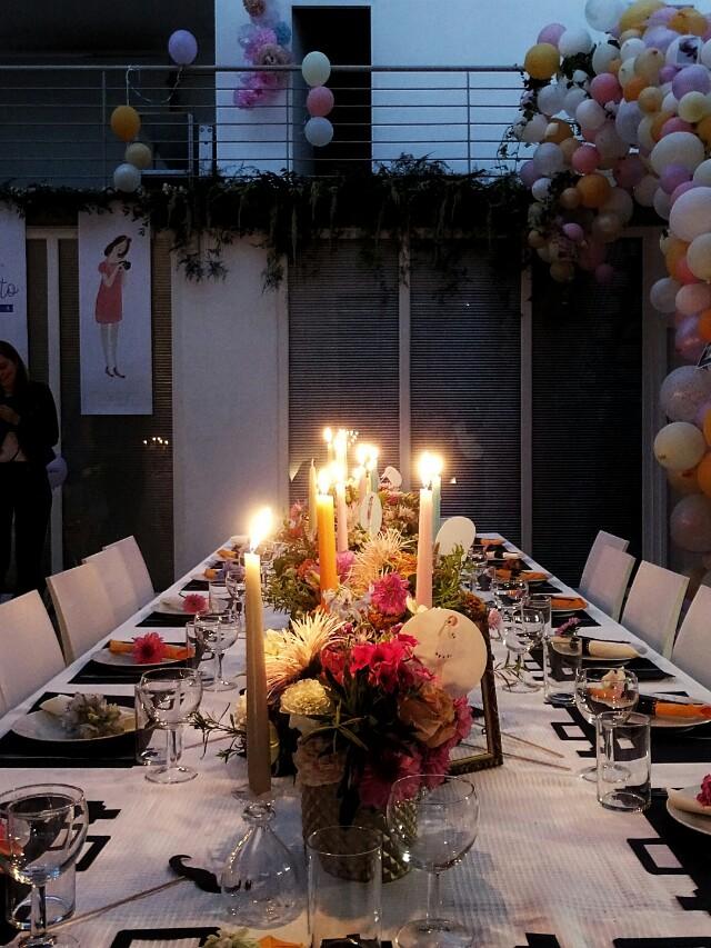 Auf der Mammilade|n-Seite des Lebens | Personal Lifestyle Blog | workshop | sisterMAG loves CEWE | blogger event | candy colors | Fotostudio | Studiolichtstraße | Köln | Luftballongirlande | Candlelight Dinner | Tischdeko