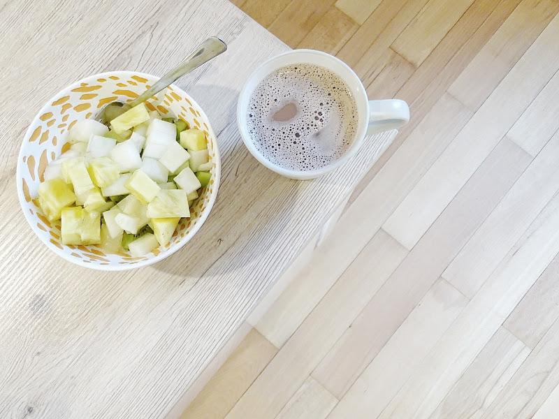 Auf der Mammilade|n-Seite des Lebens | Personal Lifestyle Blog | 5 Lieblinge und Inspirationen der Woche | Obstfrühstück mit Kakao