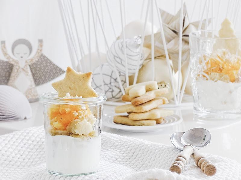 Auf der Mammilade|n-Seite des Lebens | Personal Lifestyle Blog | Lieblinge und Inspirationen der Woche | Weihnachtsdessert mit frischen Mandarinen, selbstgebackenen Butterkeksen und Vanillecreme