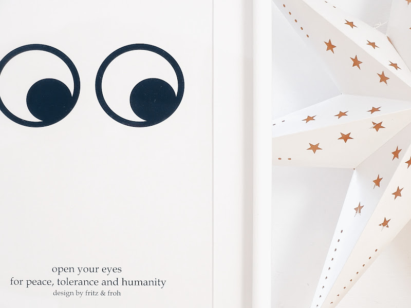 Auf der Mammilade|n-Seite des Lebens | 5 Lieblinge und Inspirationen der Woche #5 | Winter | Weihnachtsdeko | Poster Fritz & Froh | Open your eyes for peace, tolerance and humanity