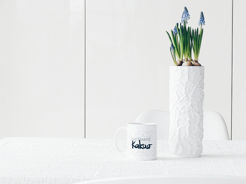 Auf der Mammiladen-Seite des Lebens | Personal Lifestyle Blog | Lieblinge und Inspirationen der Woche | Frühblüher | Muscari | Traubenhyazinthen in die Vase gepflanzt
