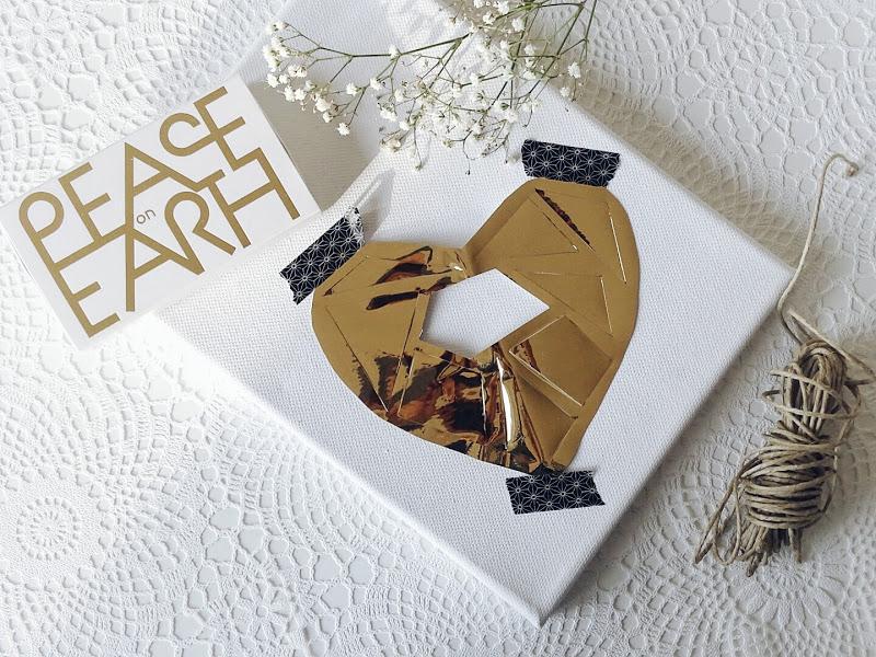 Auf der Mammiladen-Seite des Lebens | Personal Lifestyle Blog | Lieblinge und Inspirationen der Woche | DIY-Geschenk | Valentinstag | Goldenes Klebefolienherz auf Holz oder Leinwand | Scherenschnitt