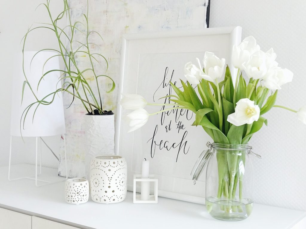 Auf der Mammilade|n-Seite des Lebens | A personal lifestyle and interior blog | DIY-Deko Frühling und Ostern | weiße Tulpen