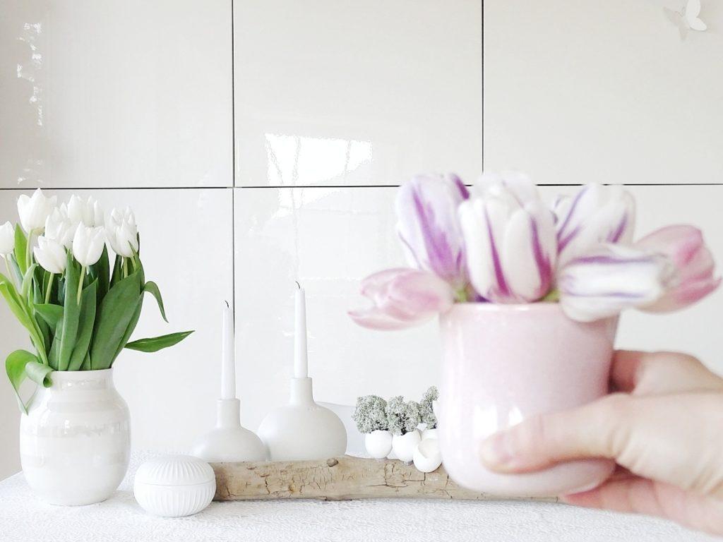 Auf der Mammilade|n-Seite des Lebens | Personal Lifestyle Blog | Lieblinge und Inspirationen der Woche #16 | Fruehlingsdeko | weiße Tulpen