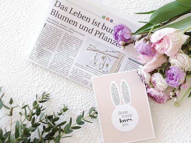 Frühlingsblumen | Osterkarte Some bunny loves you | Auf der Mammilade|n-Seite des Lebens | Personal Lifestyle und Interior Blog