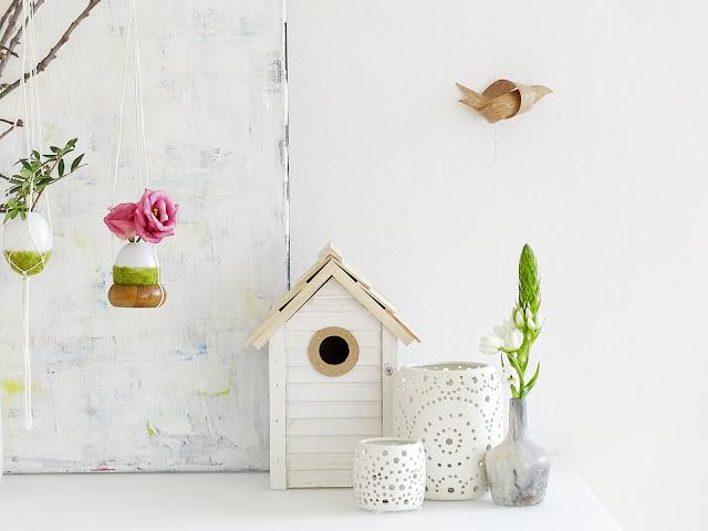 DIY-Ostereier-Vasen im Grasnest hängend für den Osterstrauch | Inspirationen | Personal Lifestyle, DIY and Interior Blog | Auf der Mammiladen-Seite des Lebens