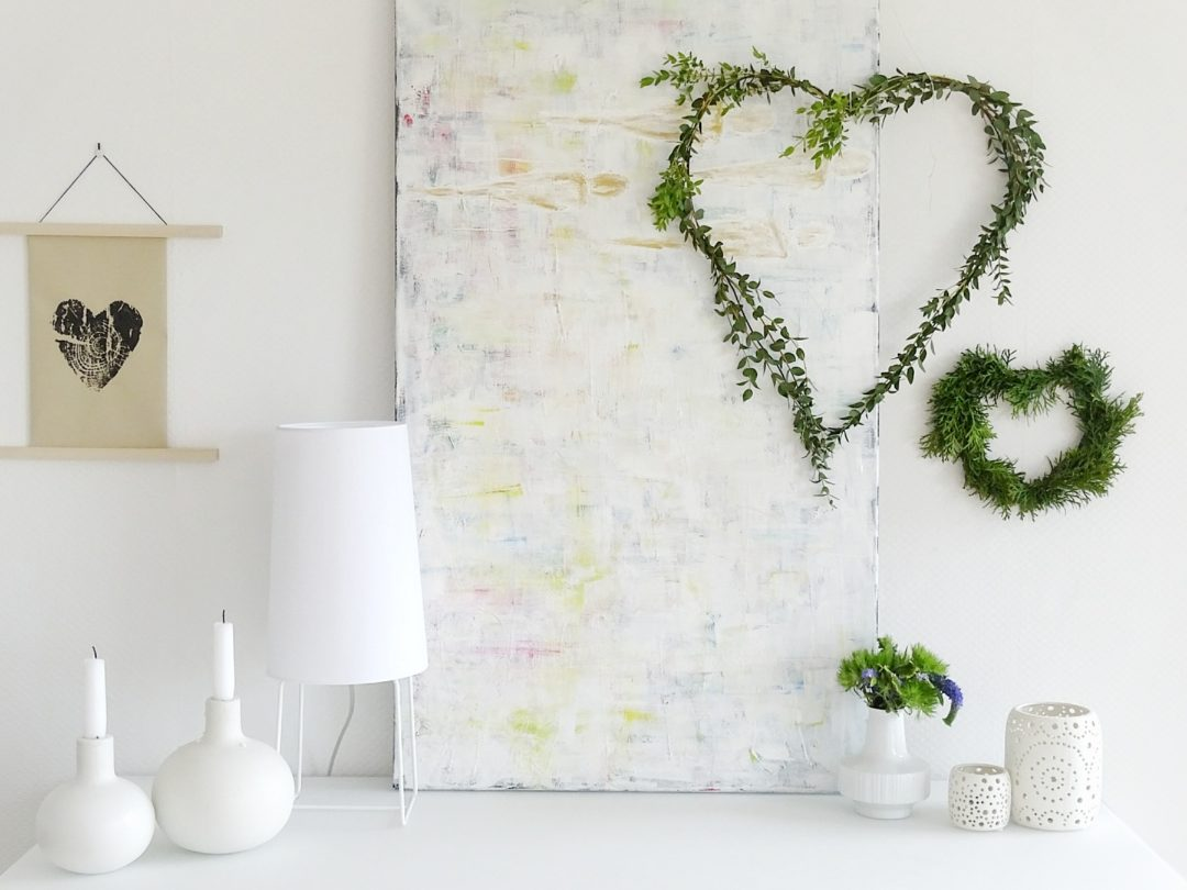 Begrunte Herzen Als Diy Deko Fur Die Wand Oder Geschenk Zum