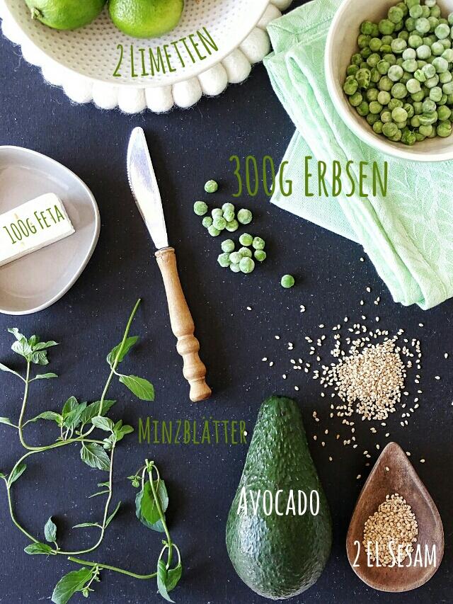 Rezept Erbsen-Avocado-Salat mit Minze, Sesam und Feta - 10 Nachmach-Tipps und DIY-Ideen im Juli - www.mammilade.blogspot.de