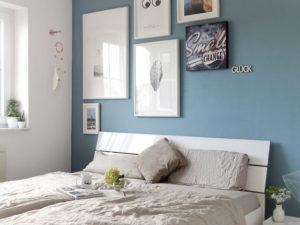Schlafzimmer-Makeover mit neuer Wandfarbe - Tipps, Tricks und Gründe für dunklere Wandfarben in kleineren Räumen - mammilade.com
