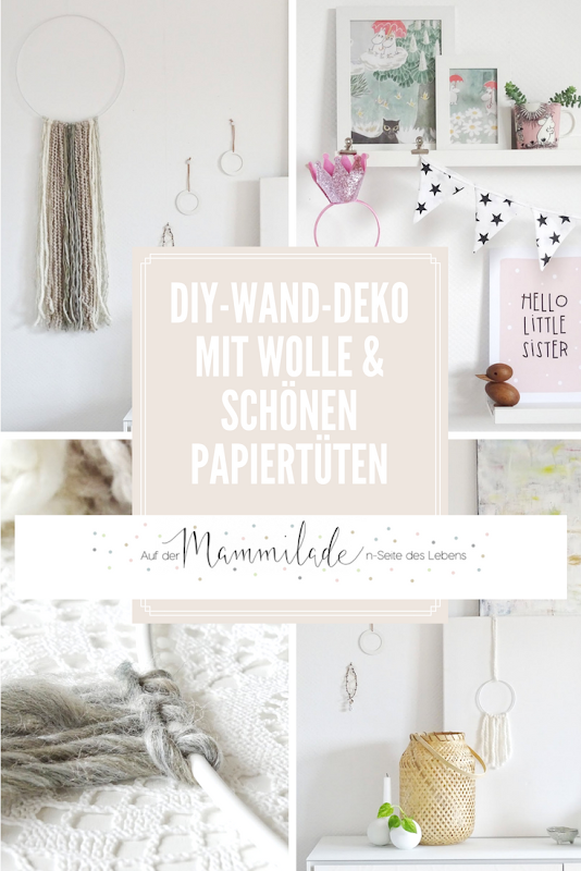 Einfachster, schneller DIY-Makramée-Wandbehang mit Wollresten - http://mammilade.blogspot.de - Fotoaktion #12von12