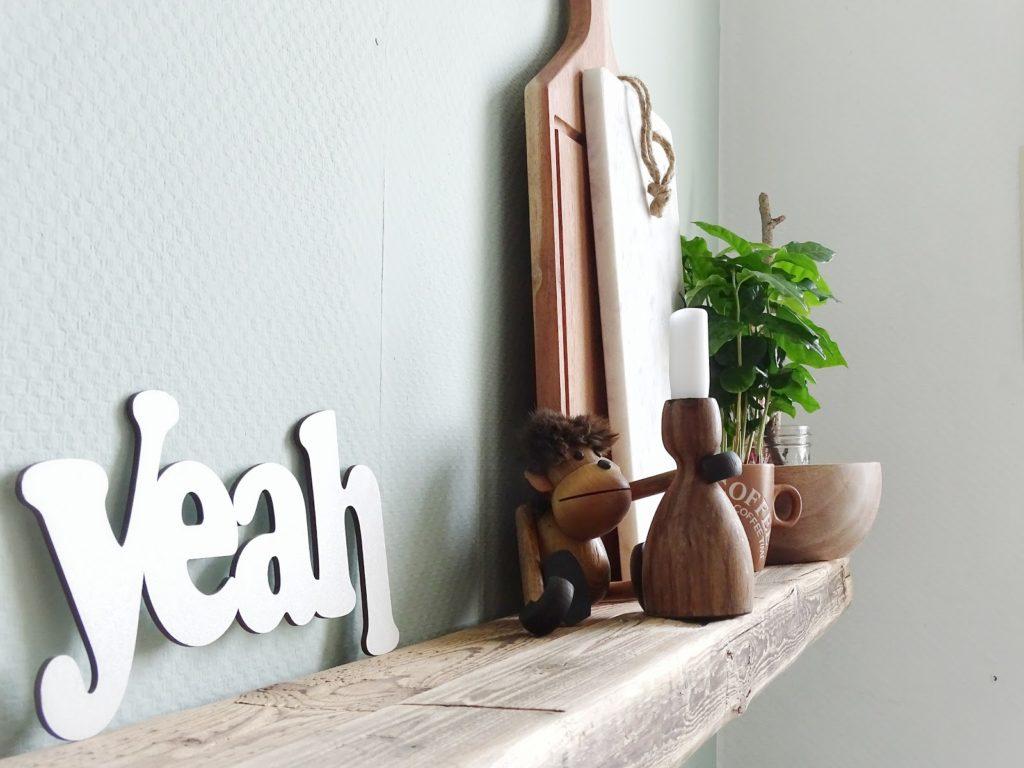 Küchen-Makeover mit neuer Wandfarbe in Mint + Styling-Ideen für Regale - www.mammilade.blogspot.de