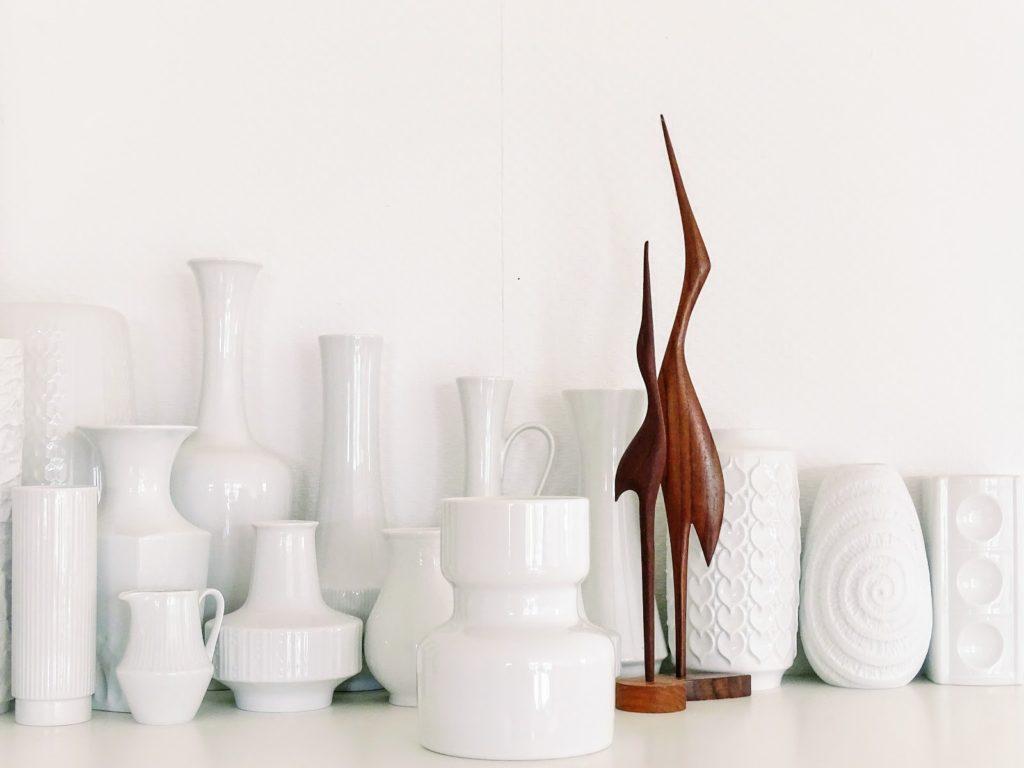 Weiße Vintage-Vasen-Sammlung - http://mammilade.blogspot.de - Fotoaktion #12von12