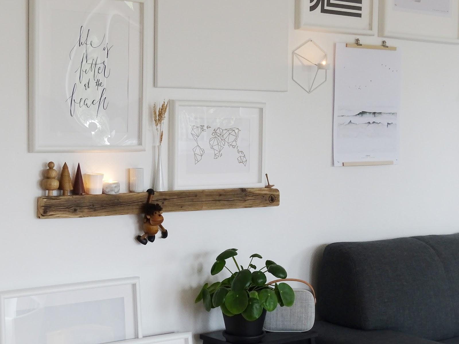 Makeover für die Wohnzimmerwand: Eine wilde Bilder-Galerie an ...