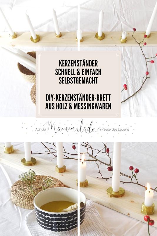 DIY-Kerzenbrett aus Holz und Messing - Fotoaktion #12von12 - https://mammilade.blogspot.de