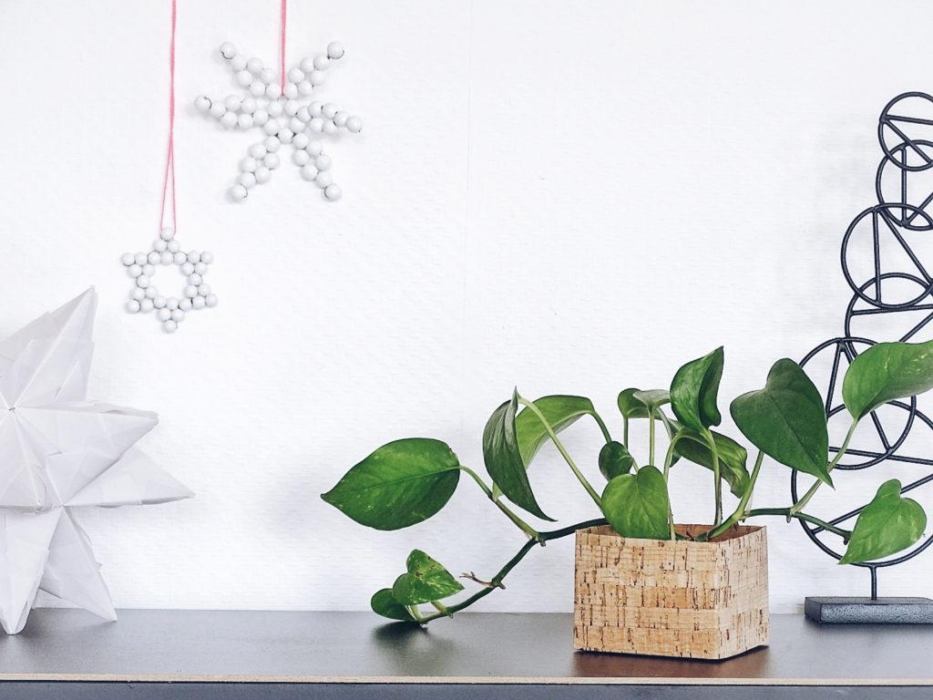 Blumentöpfe mit Korkpapier aufhübschen - 12 DIY-Nachmach-Ideen, Deko-Inspirationen und Rezepte für den November - https://mammilade.blogspot.de