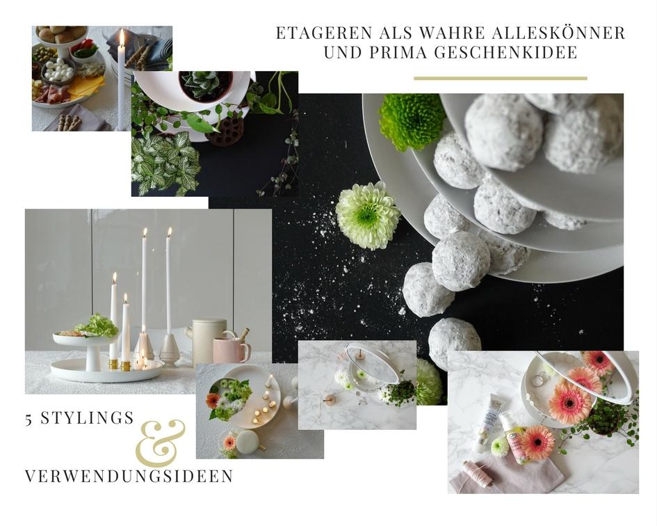 5 Deko-, Verwendungs- und Geschenk-Ideen mit Etageren - https://mammilade.blogspot.de