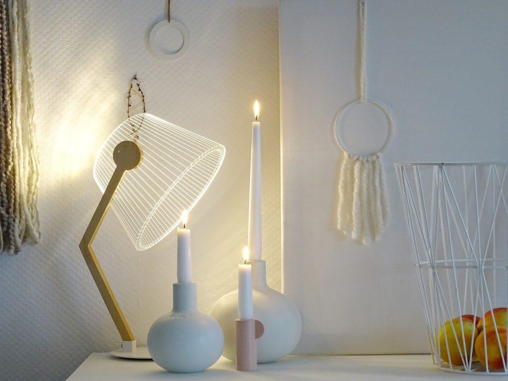 Tischlampe aus Plexiglas - Fotoaktion #12von12 und 1 Tag in 12 Bildern - https://mammilade.blogspot.de