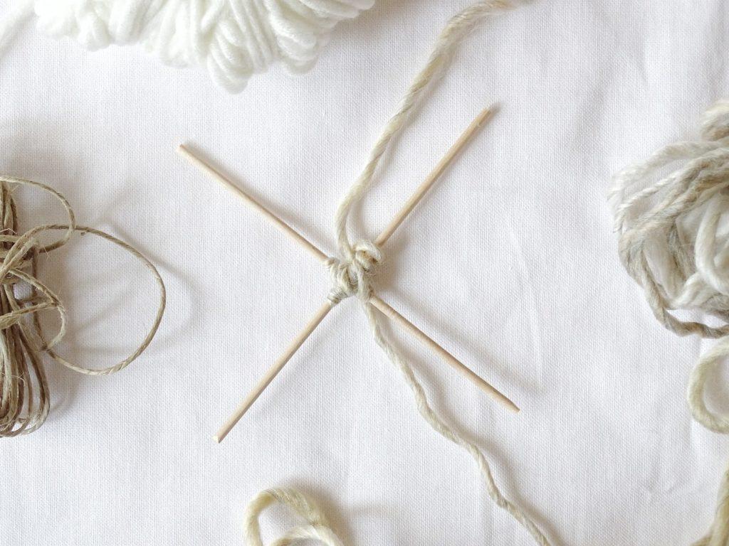 DIY-Ornamente zum Aufhängen mit Holzspießen und Wolle - Fotoaktion #12von12 und 1 Tag in 12 Bildern - https://mammilade.blogspot.de