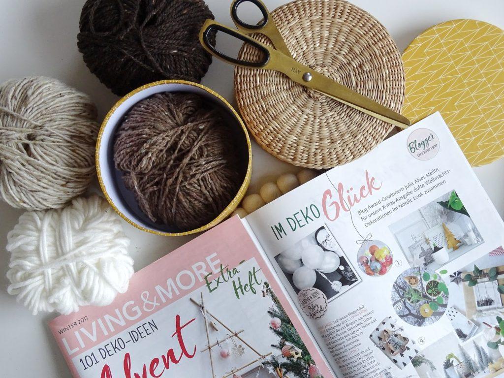 DIY-Ideen mit Wolle - Fotoaktion #12von12 und 1 Tag in 12 Bildern - https://mammilade.blogspot.de