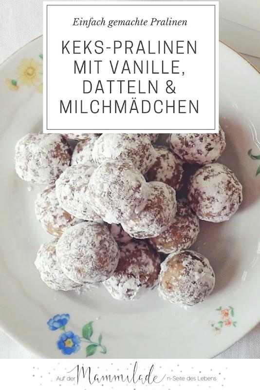 Schnell gemachte Vanille-Keks-Pralinen mit Datteln und Milchmädchen - https://mammilade.blogspot.de