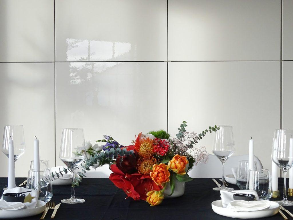 Blühendes Tischfeuerwerk mit Wunderkerzen für Silvester und andere Partyanlässe - https://mammilade.blogspot.de