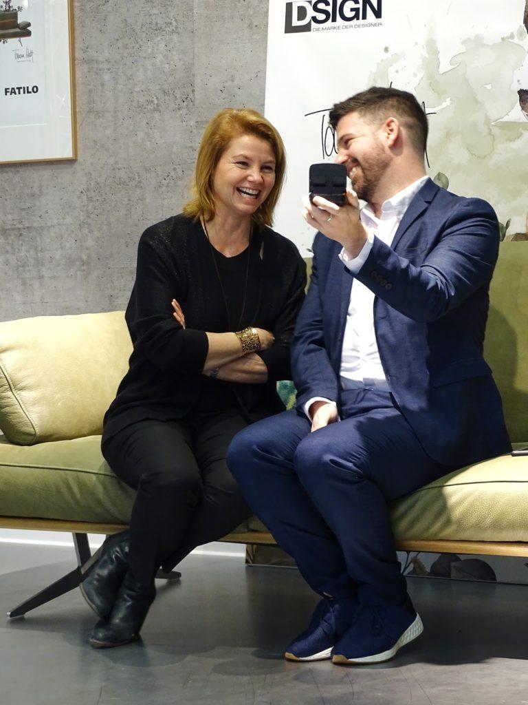 Möbelneuheiten von Mondo von der IMM 2018 in Köln | Presse Event mit Begros und Annette Frier | https://mammilade.blogspot.de