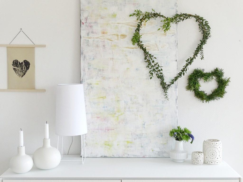DIY Draht-Herz mit Eukalyptus als Wanddeko | https://mammilade.blogspot.de | Personal Lifestyle, DIY, Interior Blog