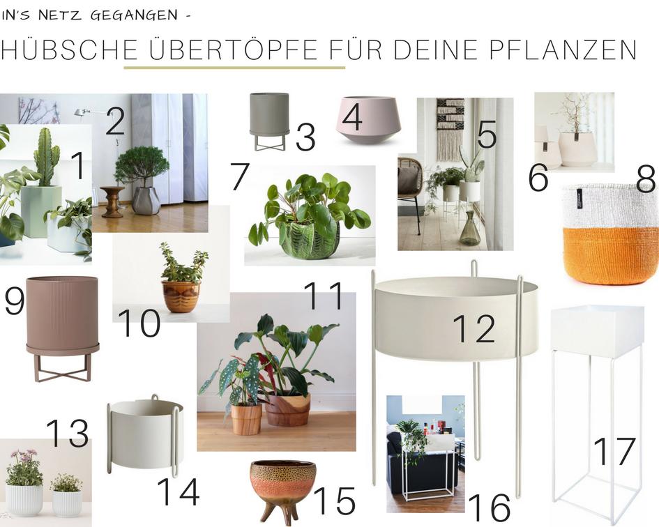 Inspiration: Hübsche Übertöpfe für deine Pflanzen | https://mammilade.blogspot.de