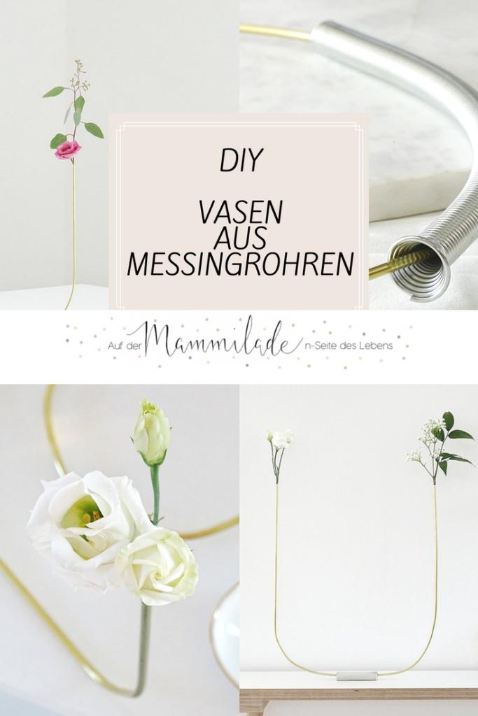 Filigrane DIY-Vase aus Messingrohr | https://mammilade.blogspot.de