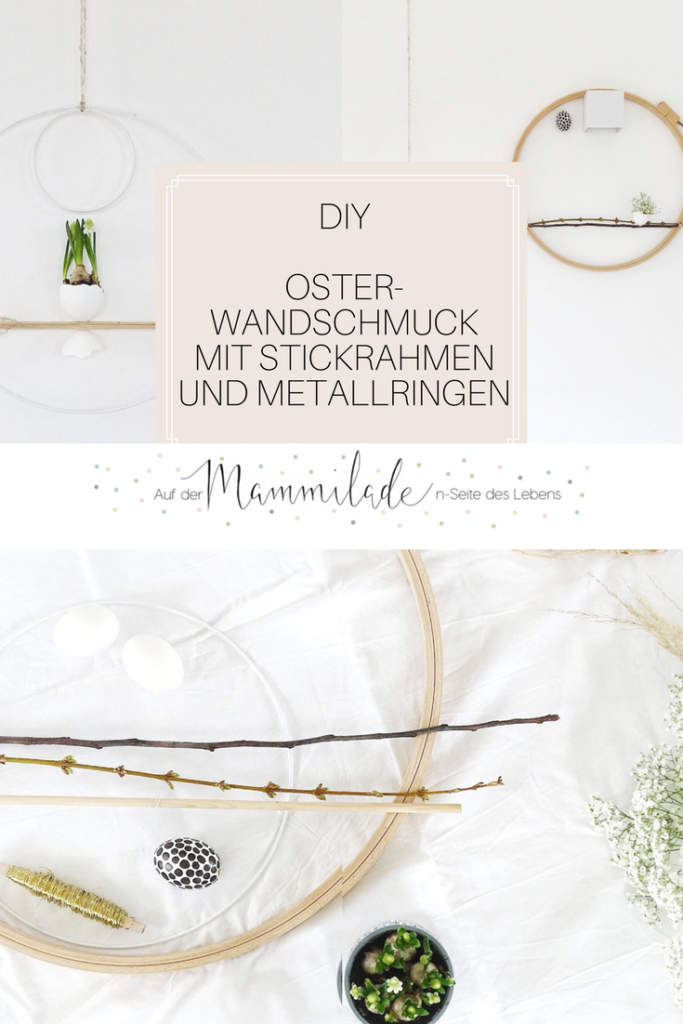 DIY-Oster-Wanddeko mit Strickrahmen und Metallringen | Fotoaktion #12von12 und 1 Tag in 12 Bildern | https://mammilade.blogspot.de