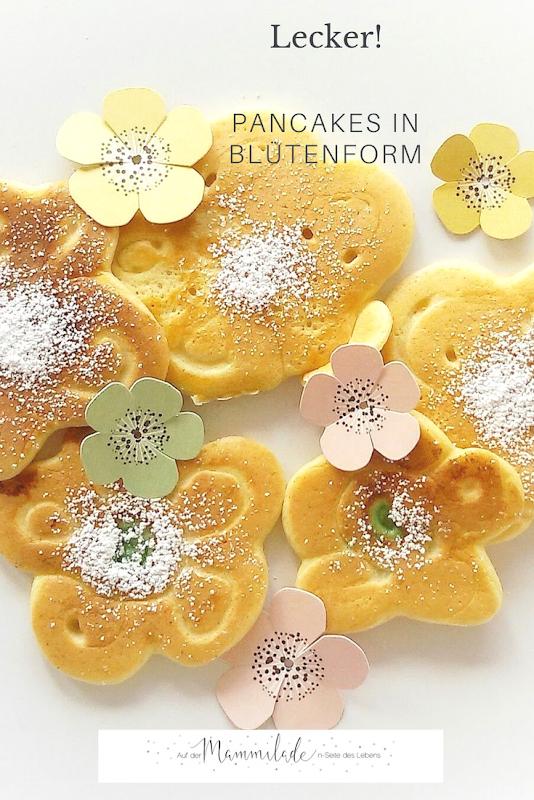 Fluffige Pancakes in Blütenform | https://mammilade.blogspot.de