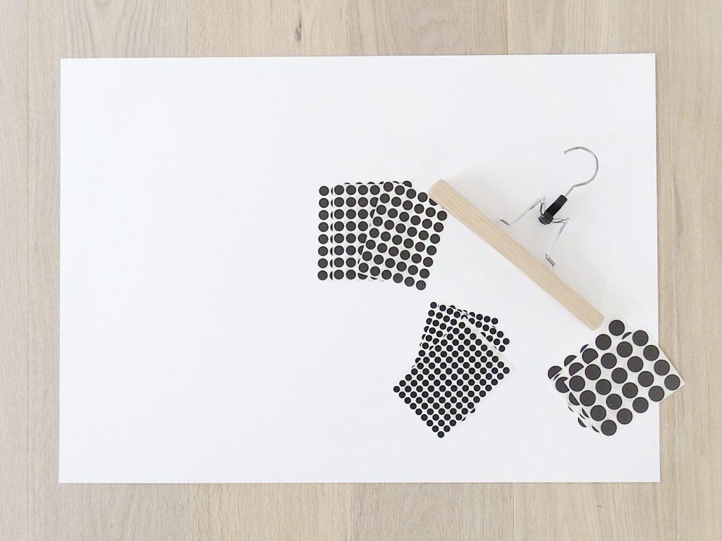 DIY Konfetti-Wandbild mit Klebepunkten | Fotoaktion #12von12 - 1 Tag in 12 Bildern | https://mammilade.blogspot.de