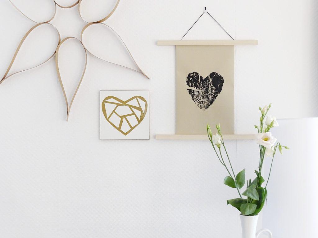 Mit Baumscheiben DIY-Wandbilder drucken | 26 DIY-Nachmach-Ideen und Rezepte für den Mai | https://mammilade.blogspot.de