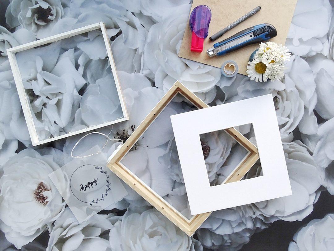Eine Lichtbox aus einem Bilderrahmen selber bauen | 12 Einblicke am ...