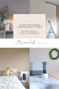 Schlafzimmer-Makeover | Warme Wandfarbe für mehr Behaglichkeit | Toffee-Farbtöne für die Wand | Tipps fuer gute Streichergebnisse | mammilade.com