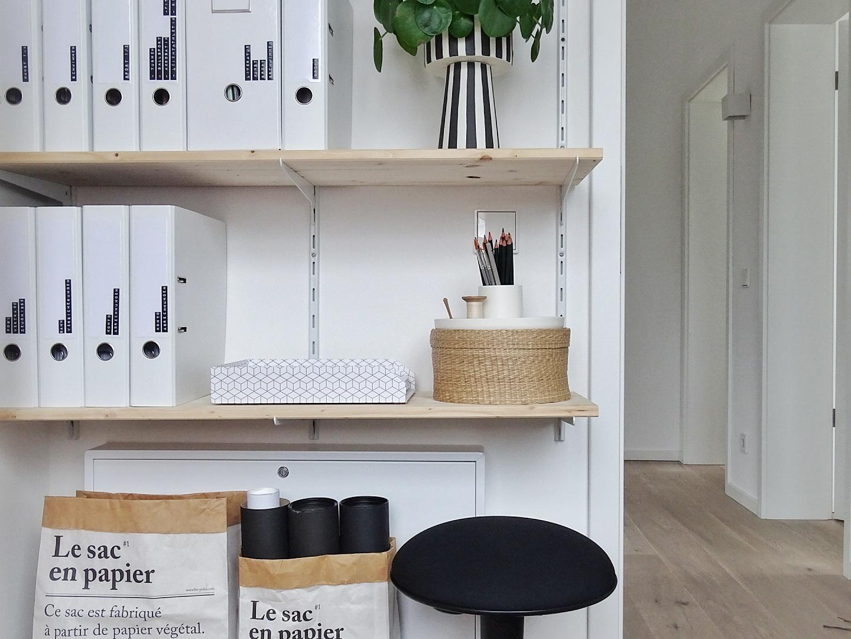 DIY-Wandregal und Arbeitszimmer mit viel Stauraum auf 6qm | In 5 Schritten zum hübsch organisierten Arbeitszimmer | mammilade.com