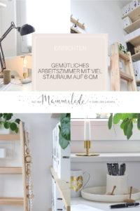 Arbeitszimmer auf 6qm mit viel Stauraum | mammilade.com