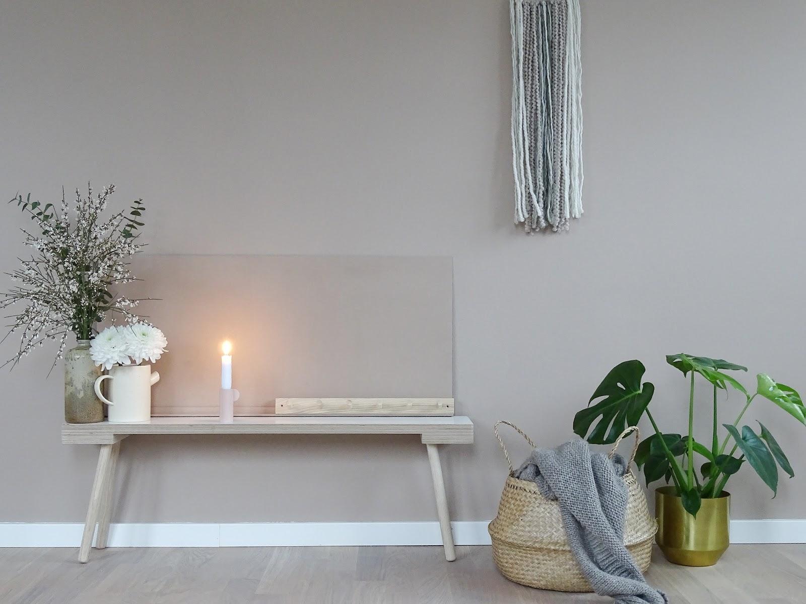 DIY-Ablageboard | Warme Wandfarbe für mehr Behaglichkeit | mammilade.com