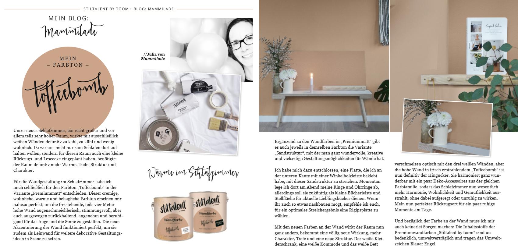 Toffee-Farbton für die Wand | Gemütlichkeit im Schlafzimmer | DIY-Ablageboard für die Wand | mammilade.com