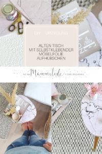 Makeover und Upcycling: Einen alten Tisch mit selbstklebender Möbelfolie aufhübschen | mammilade.com