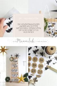 DIY Adventskalender an der Holzleiter mit schnell gemachten DIY Papier-Geschenktüten und Ideen zum Befüllen für Männer und HeimwerkerInnen | mammilade.com