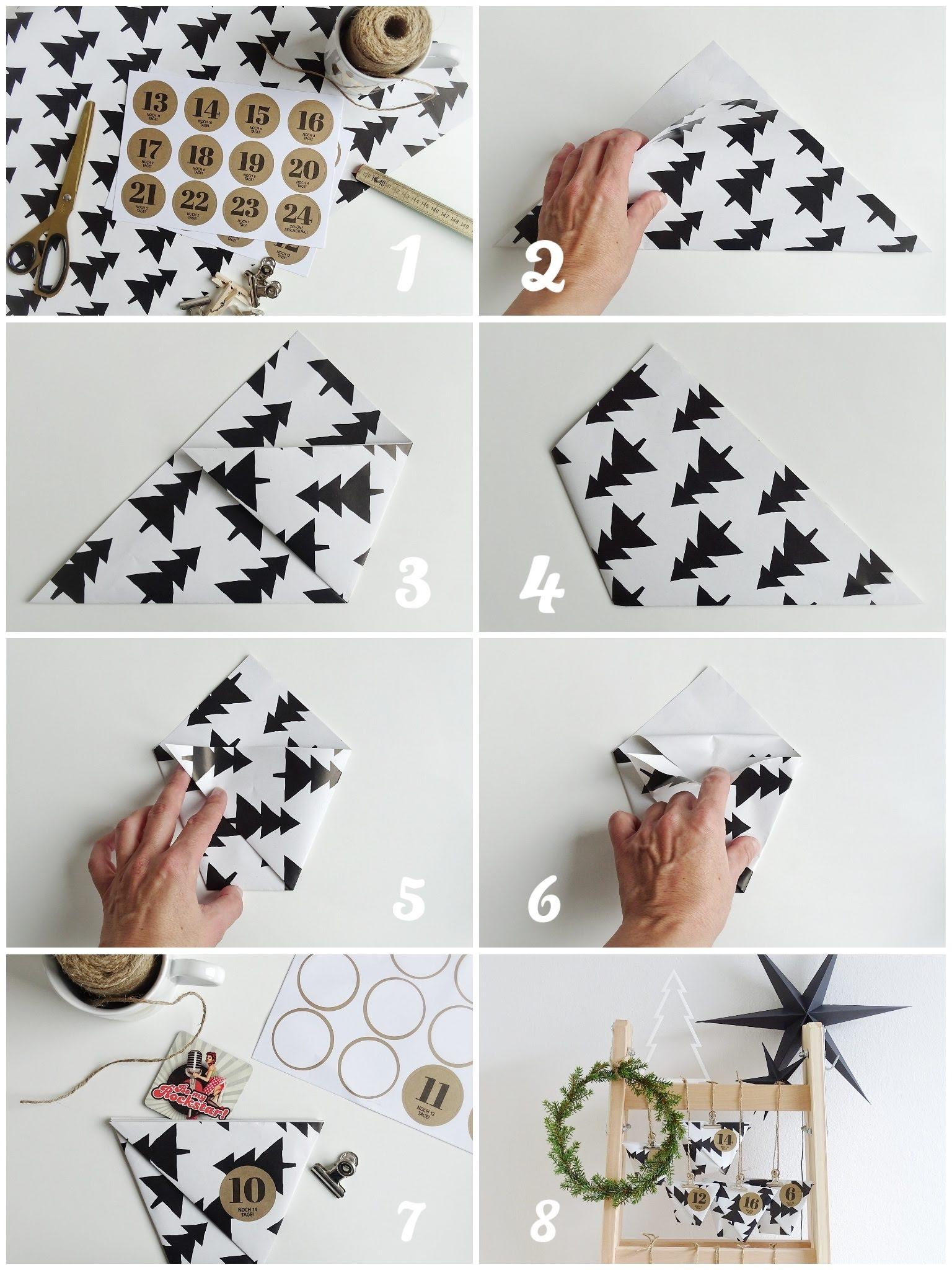 DIY Geschenktüten aus Papier einfach und schnell ohne Kleben gemacht | mammilade.com