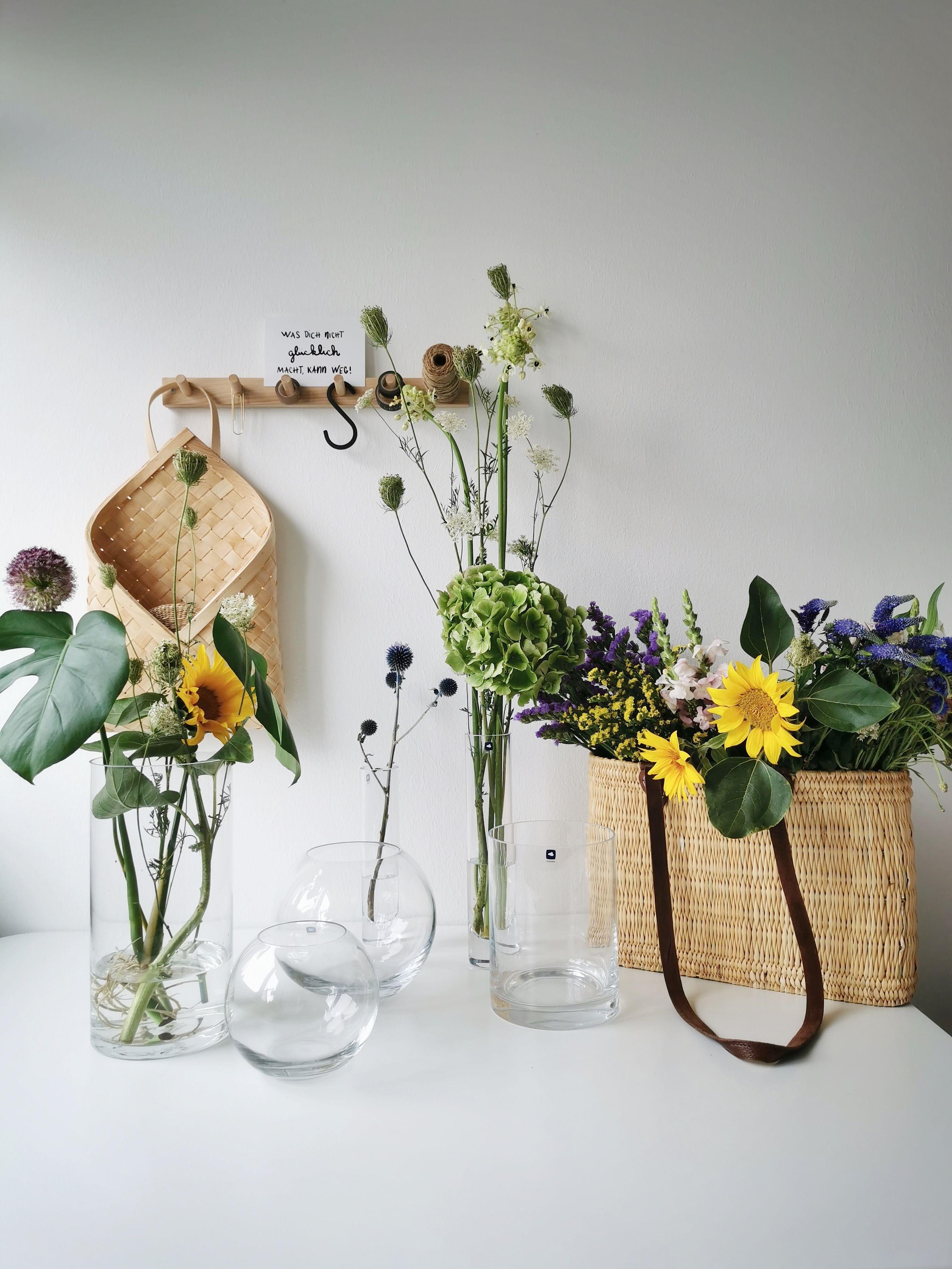 7 Wege zu floraler Abwechslung und Dekoideen mit Glasvasen | mammilade.com