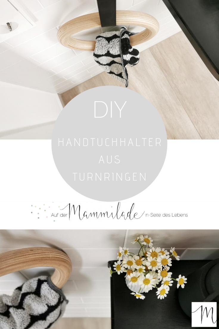 Frei hängender DIY-Handtuchhalter aus Holz-Turnringen | mammilade.com