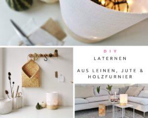 DIY-Laternen aus Leinen, Jute und Furnierholz smart beleuchtet | mammilade.com